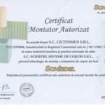 Certificat montator autorizat SCHIEDEL